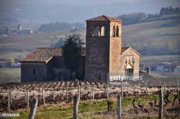 Chapel in the Beaujolais vineyard