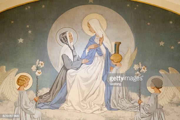 Chapel of Our Lady of the Miraculous Medal Catherine Labouré and Virgin Mary