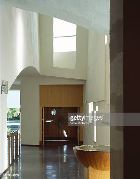 Chapel Of St Ignatius Seattle United States Architect Steven Holl Chapel Of St Ignatius Procession Hall From Carved Alaskan Cedar Baptismalfont To...