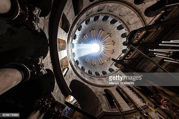 chapel of the holy sepulchre - chiesa del santo sepolcro foto e immagini stock