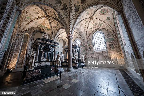 chapel of the three wise men, roskilde cathedral, denmark - roskilde fjord stock pictures, royalty-free photos & images