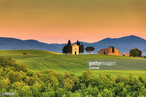 Cappella della Vitaleta in Toscana, la Val d'Orcia