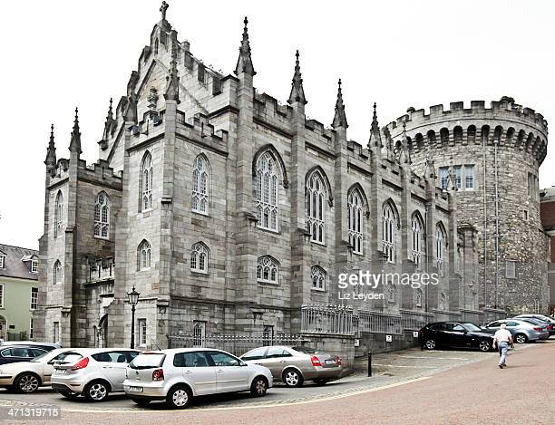chapel royal and records tower: dublin castle - dublin castle dublin stock pictures, royalty-free photos & images