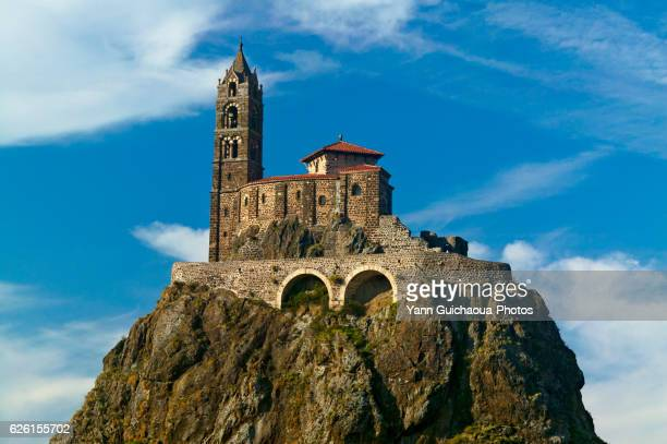chapel saint michel d'aiguilhe,le puy en velay, haute loire, auvergne,france - ルピュイ ストックフォトと画像
