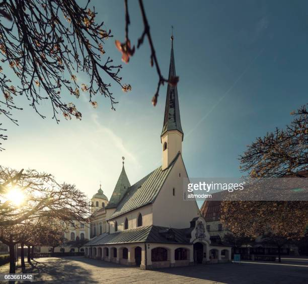 chapel square in altoetting - altötting stock photos and pictures
