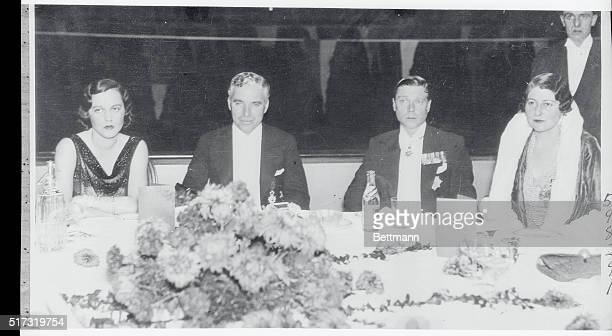Chaplin and Prince London England It looks very much as though the king of comedians was being snubbed by the Prince of Wales in this closeup photo...