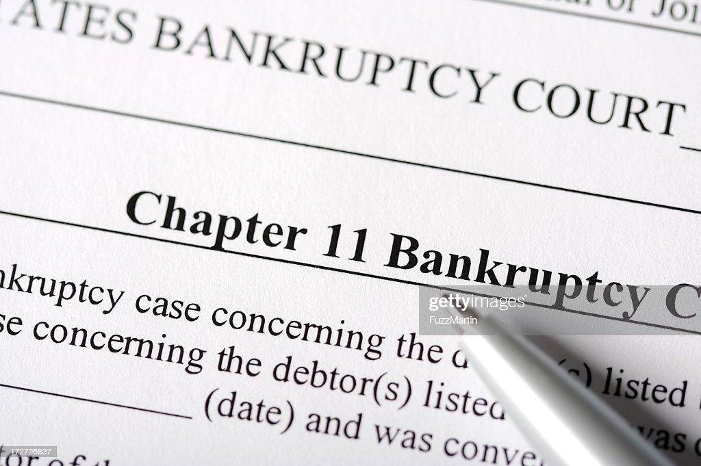 Chapter 11 Bankruptcy Paperwork : Stock Photo
