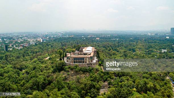 Chapultepec Castle Aerial view from above