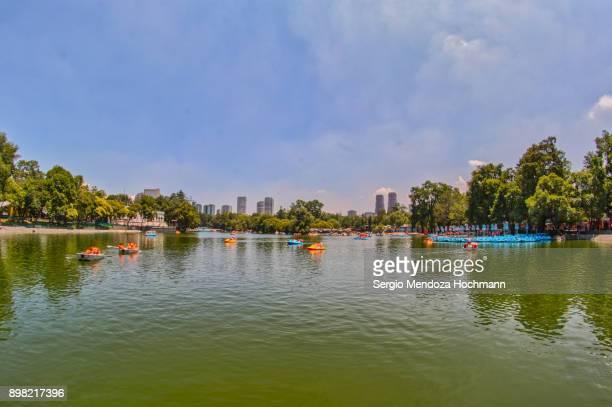 chapultepec lake in chapultepec park - mexico city, mexico - chapultepec park stock photos and pictures
