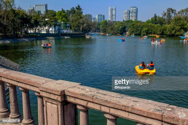 chapultepec lake in mexico city - lakeland florida stock pictures, royalty-free photos & images