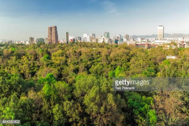 Chapultepec Park and Mexico City skyline, Mexico City, Mexico