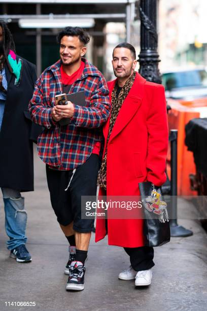 Char Defrancesco and Marc Jacobs are seen in SoHo on April 07 2019 in New York City