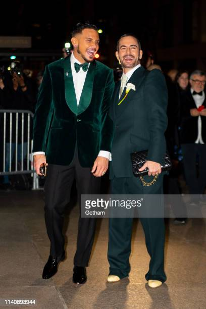 Char DeFrancesco and Marc Jacobs arrive at their wedding reception at The Grill in Midtown on April 06 2019 in New York City