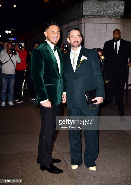 Char Defrancesco and Marc Jacobs arrive to The Grill and The Pool on April 6 2019 in New York City