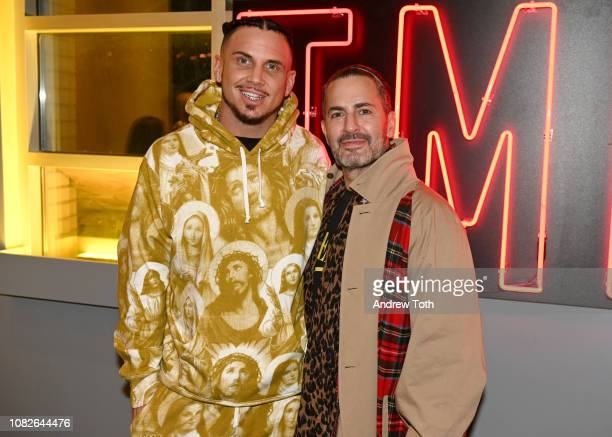Char Defrancesco and Marc Jacobs attend Susanne Bartsch and David Barton's Toy Drive at TMPL West Village on December 14 2018 in New York City