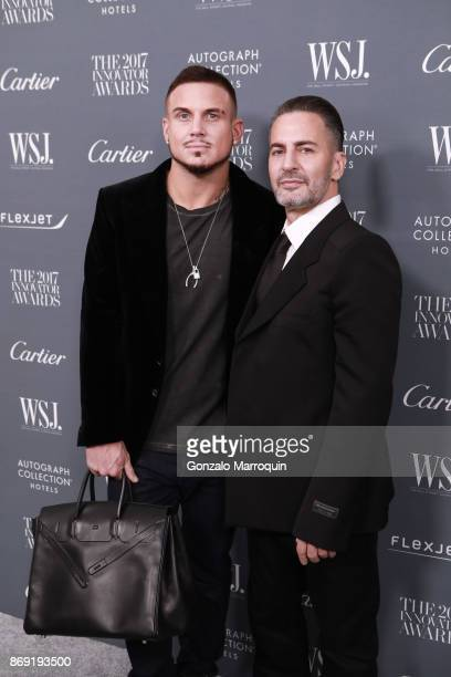 Char Defrancesco and Marc Jacobs during the WSJ Magazine 2017 Innovator Awards at Museum of Modern Art on November 1 2017 in New York City