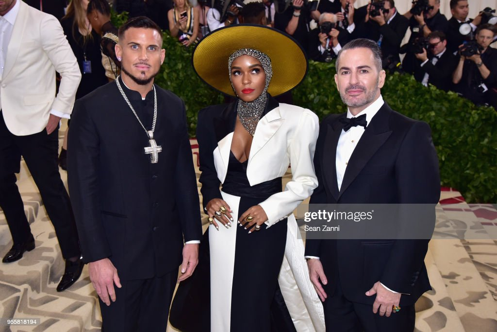 Char Defrancesco, Janelle Monae, and Marc Jacobs attend the Heavenly Bodies: Fashion & The Catholic Imagination Costume Institute Gala at The Metropolitan Museum of Art on May 7, 2018 in New York City.