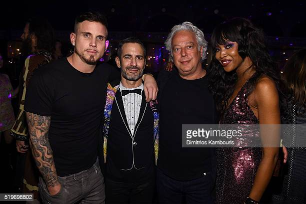 Char Defrancesco Marc Jacobs Aby Rosen and Naomi Campbell attend as Marc Jacobs Benedikt Taschen celebrate NAOMI at The Diamond Horseshoe on April 7...