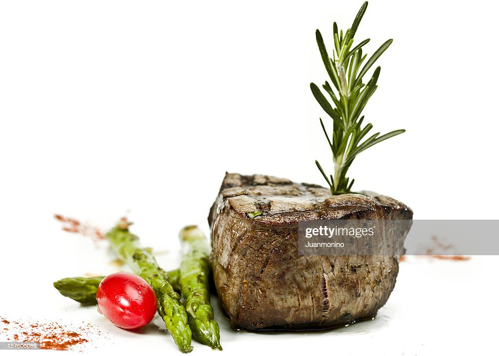 char grilled Fillet Mignon : Stock Photo