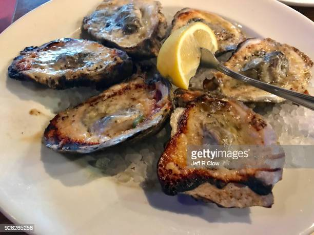 Char Grilled oysters on ice 2
