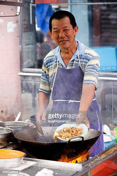 char koay teow - george town penang stock photos and pictures