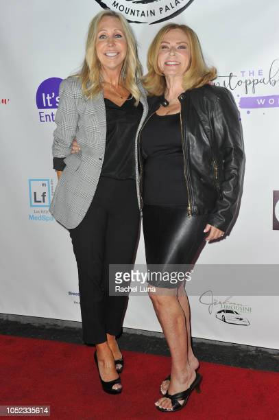 Char Margolis and Nancy Caldwell attend Unstoppable Warrior Women at Yamashiro Hollywood on October 16 2018 in Los Angeles California