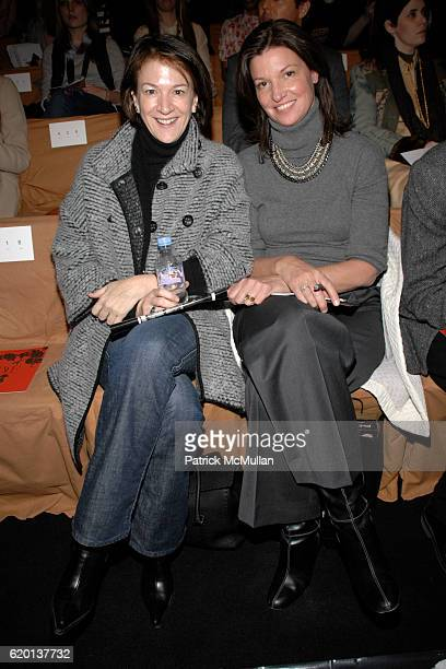Chara Lawhon and Cindy Weber Cleary attend DIANE VON FURSTENBERG Fall 2008 Fashion Show at The Tent on February 3 2008 in New York City