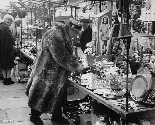 A character at Portobello Road market London