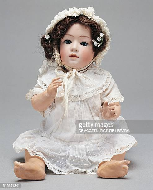 Character baby doll with cut head and real hair moving glass eyes composition body toy made by Gebruder Heubach Germany 20th century Milan Museo Del...
