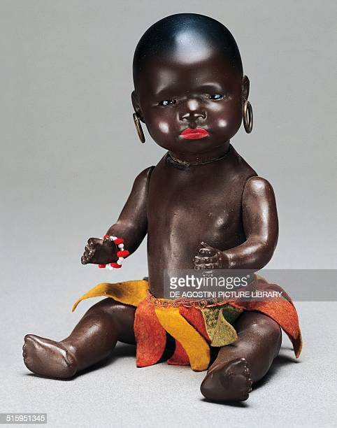 Character black baby doll toy made by Gebruder Heubach Germany 20th century Milan Museo Del Giocattolo E Del Bambino