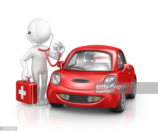 character doctor examine car