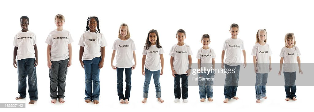 Carácter educación rasgos de camisetas : Foto de stock