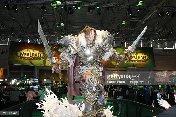 Character from the Game World of Warcraft Legion at the Gamescom fair. Gamescom the Worlds largest Gaming Fair. Gamescom is a trade fair for video...