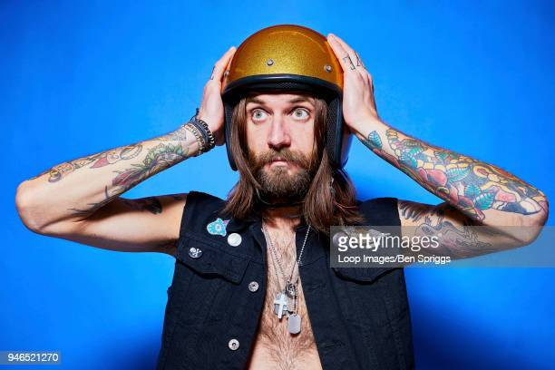 character scooter biker - crash helmet stock pictures, royalty-free photos & images