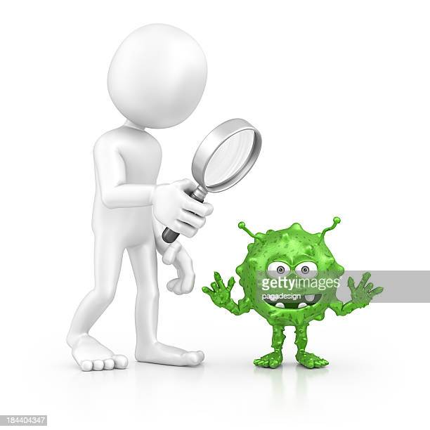 character searching bacterium - computer bug stock photos and pictures