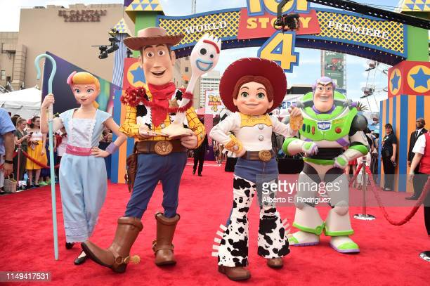 Characters are seen during the world premiere of Disney and Pixar's TOY STORY 4 at the El Capitan Theatre in Hollywood CA on Tuesday June 11 2019