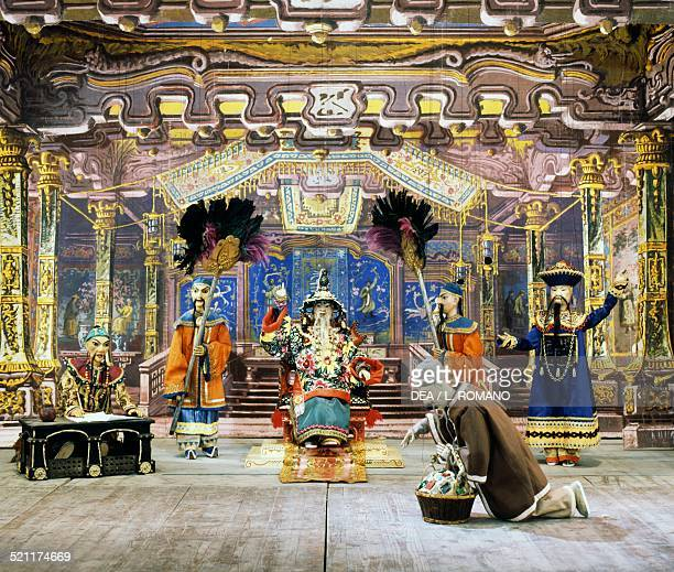 Characters from Aladdin's Lamp fairy tale set to music by Eugene Colla and Danilo Lorenzini marionettes by Carlo Colla and Sons Marionette Company...