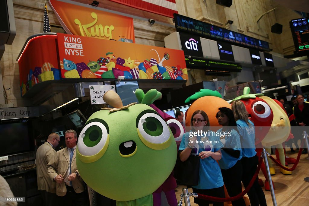 Makers of Popular Candy Crush Game Make Public Debut On New York Stock : News Photo
