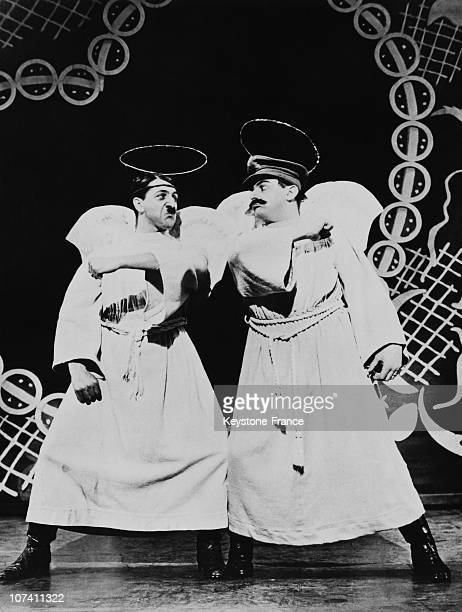 Characters Of Hitler And Stalin The Theater Play Five Little Angels Of Peace In New York In 1939