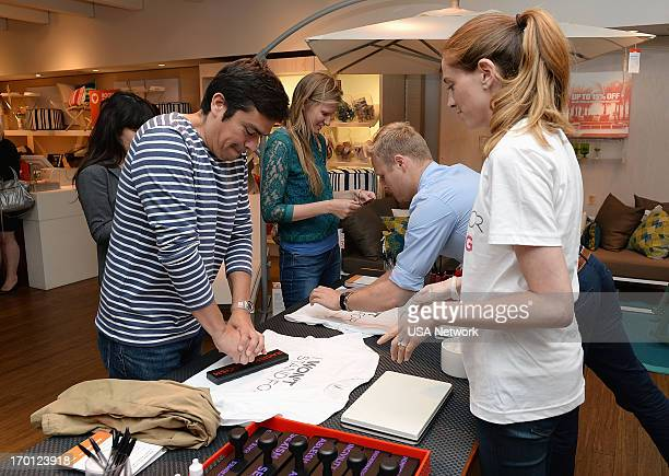 EVENT 'Characters Unite Event in New York City June 6 2013' Pictured Guests get custom tshirts made