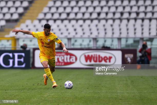 Charalampos Lykogiannis of Cagliari Calcio in action during the Serie A match between Torino Fc and Cagliari Calcio Cagliari Calcio wins 32 over...
