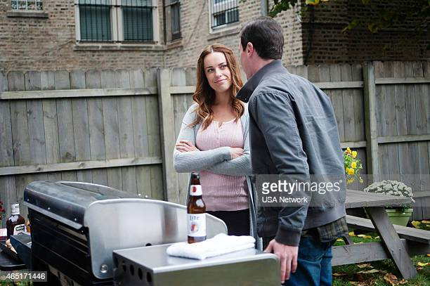 SIRENS Charbroiled Episode 209 Pictured Jessica McNamee as Theresa Kelly Michael Mosley as Johnny Farrell