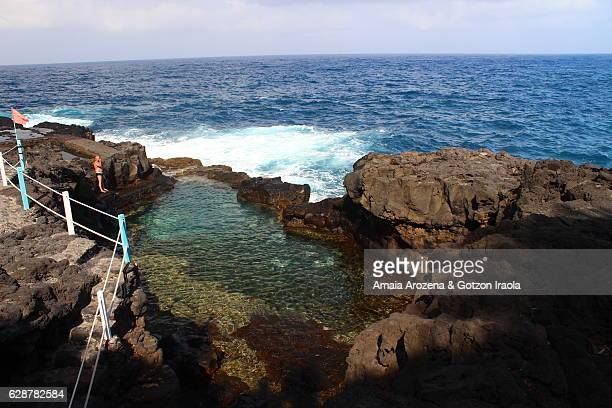 Charco Azul natural pools in La Palma island, Canary islands