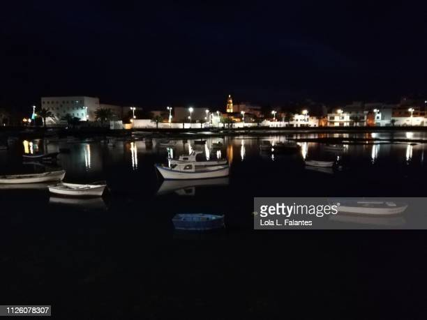 Charco de San Ginés at night, Arrecife