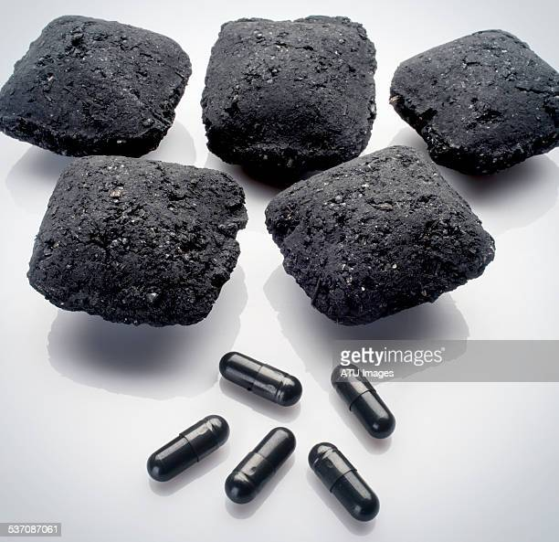 Charcoal and pills