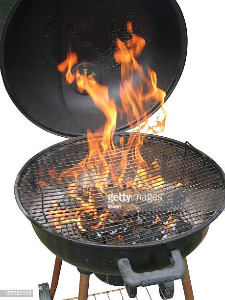 Charcoal Grill with Fire