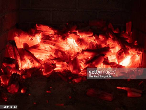 charcoal_fire_p1012773 - 薪 ストックフォトと画像
