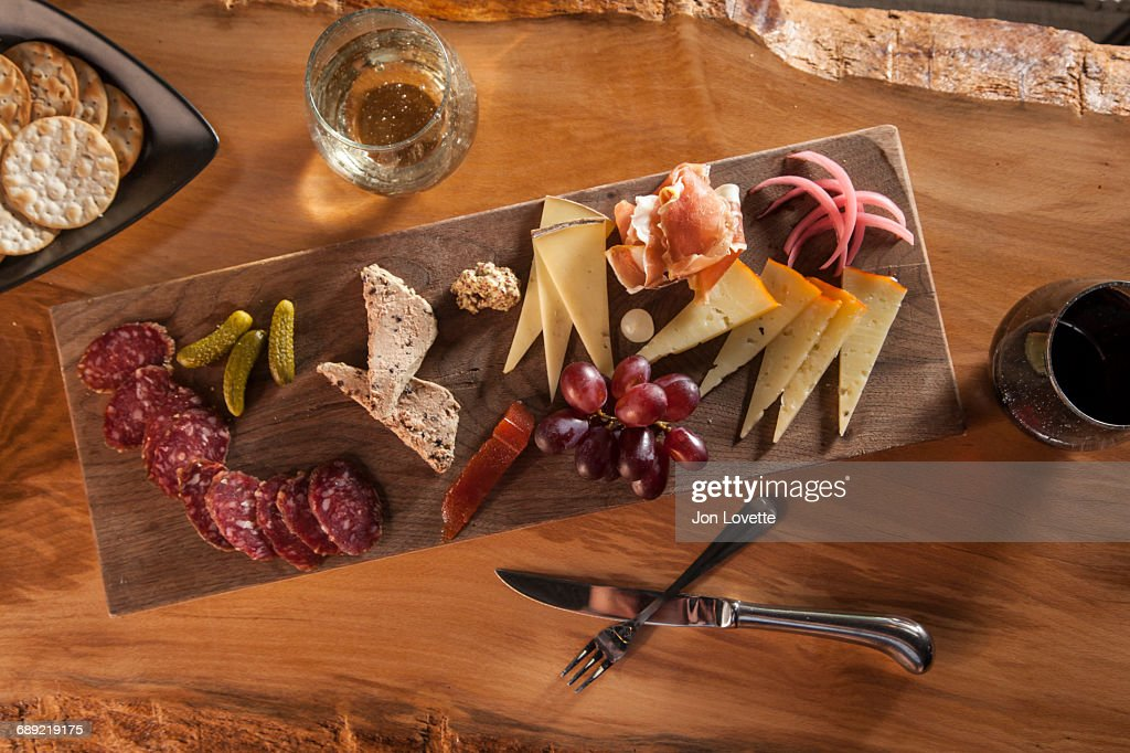 Charcuterie and Cheese Plate : Stock Photo