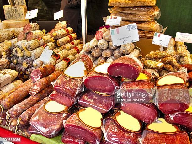 Charcuterie at Christmas Market at Bern Switzerland