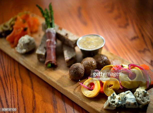 Charcuterie board at Savory Square Bistro in Hampton NH April 6 2016 The restaurant's executive chef is Aaron Duvall